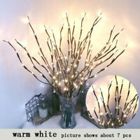 20-LED Tree Branch Light Christmas Xmas Home Outdoor Decor Fairy String Lamp
