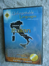 Unforgettable Languages Italian Platinum Series Levels 1-4 Pc Cd Rom Missing Dis