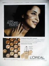 PUBLICITE-ADVERTISING :  L'OREAL Accord Parfait  2014 Leila Bekhti,Cosmétique