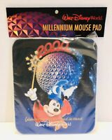 Walt Disney World Millennium Sorcerer Mickey Epcot Computer Mouse Pad SEALED!