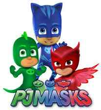 """PJ Masks Iron On Transfer 5 """"x 5.5"""" for LIGHT Colored Fabric"""