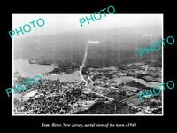OLD LARGE HISTORIC PHOTO OF TOMS RIVER NEW JERSEY AERIAL VIEW OF THE CITY 1940 1