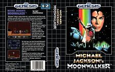 Moonwalker Sega Genesis NTSC Replacement Box Art Case Insert Cover Scan