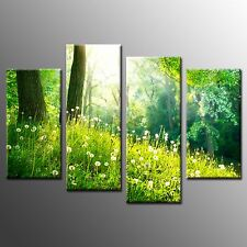 FRAMED Modern Canvas Print Green Tree Wall Art Painting Poster Home Decor-4pcs