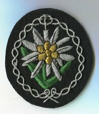 German  Army  Edelwiess Officer Patch lg