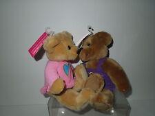 NWT Hallmark Love & Kiss Kiss Plush Bears - Dual Hearts