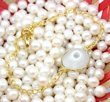 H5507 Sale Royal Natural Of White Solar Quartz 24k Gold Plated Bracelet Jewelry