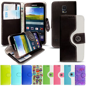 For Samsung Galaxy S5 Neo Wallet Case Card Slot Book Cover PU Leather Phone Case