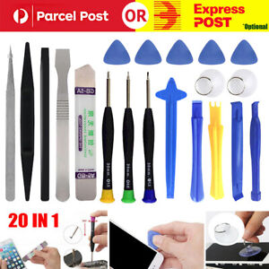 20 In 1 Mobile Phone Repairing Tools Kit Spudger Pry Opening Screwdriver Tool AU