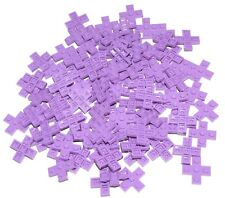 LEGO LOT OF 100 NEW LAVENDER PLATES 3 X 3 CROSS PIECES PARTS