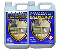 Black Disinfectant, Black Fluid 2x 5 litres Very Strong