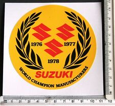 Team Suzuki World Champion 1976/77/78 sticker    5