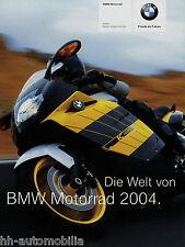 BMW Motorrad Prospekt 2004 Folder F650GS K1200GT K1200RS R1150RT R1200CL R1100S