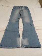 Hard to Find AMERICAN SOUL Denim Jeans Womens Size 30/32 ButtonFly Light Wash