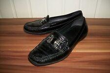 Chaussures mocassins cuir noir GEOX 36  boucle gravé logo