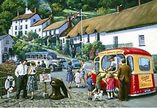 Lynmouth Harbour Seaside Holiday Ice Cream Van Medium Metal/Tin Sign, Picture