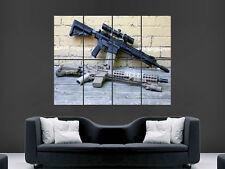 ASSALT Fucile Pistola Mitragliatrice Esercito POSTER GIGANTE immagine Stampa Artistica Grande