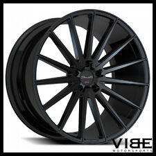 "22"" GIANELLE VERDI GLOSS BLACK CONCAVE WHEELS RIMS FITS MERCEDES W222 S550 S63"