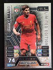 Match Attax 2013 2014-Steven Gerrard-Plateado LE3 tarjeta de edición limitada de 13 14