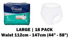 Prevail Large Disposable Incontinence Pull Up Pants, 18 incontinence pants