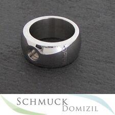 Melano-magnetic anillo de acero inoxidable - 10 mm-brillante-talla 57 nuevo