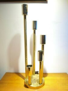 Mid Century Modern Brass Table Lamp 5 Light Globe Cascade Atomic Sputnik Mod MCM