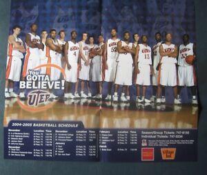 UTEP Miners--2004-05 Basketball Home Schedule Poster--Wells Fargo/Village Inn