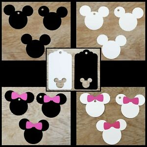 10x Disney Inspired Minnie & Mickey Tags,Labels,Name Tags,Wishing tree,Christmas