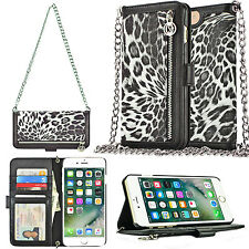 Luxury Wallet Chain Strap Flip Leather Handbag Case Cover For iPhone 6 6s 7 Plus