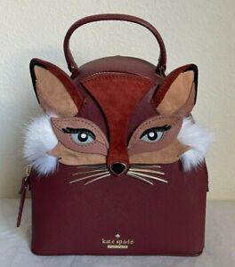 NWT Kate Spade So Foxy Fox Binx MINI Backpack Crossbody Bag PXRU9242~Limited ED!
