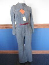 NWT LOOMTOGS mod apres ski VTG. 1960's wool jumpsuit flare legs zip up front s