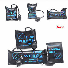 3 Pcs Car Door Air Pump Wedge Pad Shim Inflatable Hand Pump Assist Opener Tool