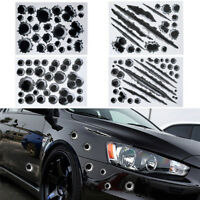 3D Bullet Holes Scratch Decal Car Sticker Motorcycle Stickers Waterproof 21X30CM