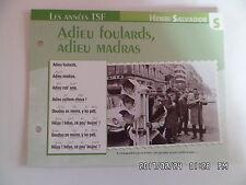 CARTE FICHE PLAISIR DE CHANTER HENRI SALVADOR ADIEU FOULARDS ADIEU MADRAS