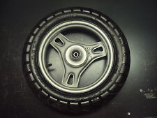 1984 84 HONDA SUNLINE 50CC 50 CC MOTORCYCLE WHEEL TIRE RUBBER RIM SPOKES 3.00-10