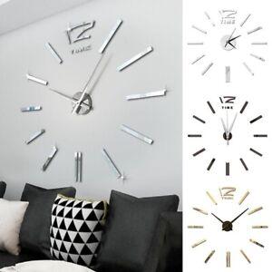 Modern Design Wall Clock Large Sticker Digital Big Living Room Home Office Decor