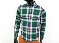 Carhartt Mens Shirt Tailoted Checks Green size S