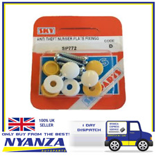 NUMBER PLATE SECURITY SCREWS FIXING KIT ANTI THEFT TAMPER PROOF