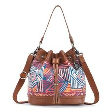 The Sak 168120 Womens Ukiah Casual Leather Drawstring Handbag Madura Print