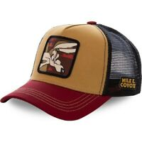 Capslab Trucker Cap Looney Tunes Coyote Brown & Maroon