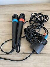 Oficial SingStar micrófonos con Cable con USB Convertidor