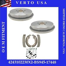 Rear Brake Drums Shoes & Hardware For Toyota Corolla 2009-2010-2011-2012 to 2019