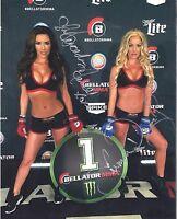 """Mercedes Terrell & Summer Daniels Signed Bellator MMA 8""""x10"""" Photo UFC Hot"""