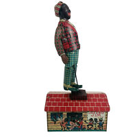 1920s Marx Jazzbo Jim Dancer on the Roof Tin Litho Windup Toy Works