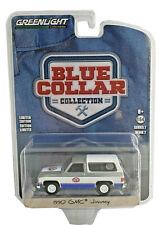 "Greenlight 1/64 Blue Collar Series 7 1990 GMC Jimmy"" STP"" Model Car 35160D chase"