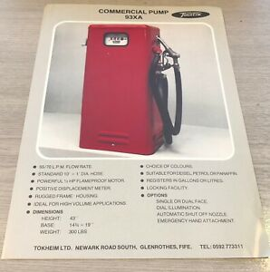 Tokheim 93XA Commercial Fuel Pump Sales Flyer