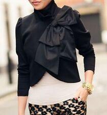 Alice + Olivia Addison Black Bow Collar Dress Bolero Jacket Blazer 0 2 / XS
