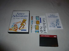 BOXED MASTER SYSTEM GAME AZTEC ADVENTURE COMPLETE W BOX & MANUAL MEGA CARTRIDGE