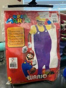 Wario Costume Size: Large  Rubie's Boys Deluxe Super Mario Wario Costume New!!!