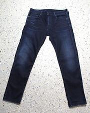 G-Star 3301 Slim Jeans Hose W34 L32 Raw Denim F229